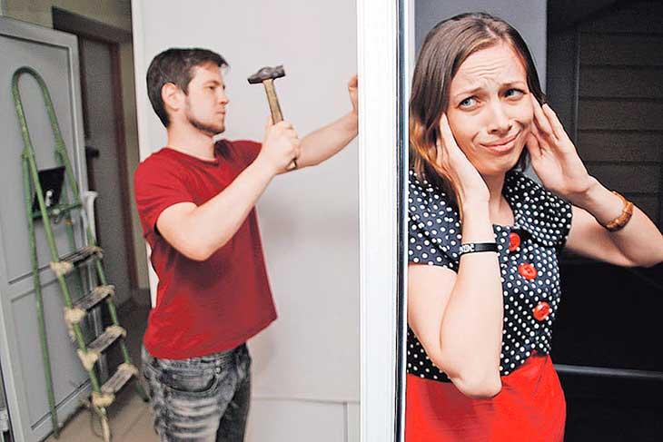 Соседи стучат и делают ремонт