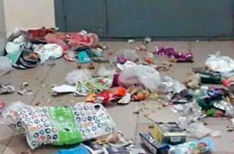 Соседи оставляют мусор в подъезде
