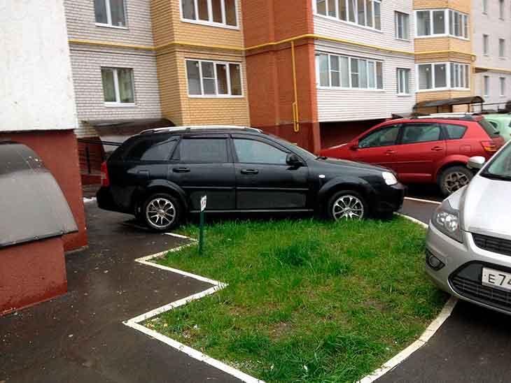 Сосед паркуется где хочет